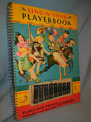 1938 Sing A Long Player Book with Built In Xylophone by McLoughlin Bros