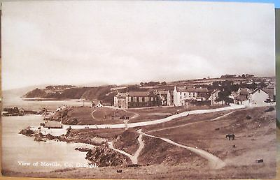 Irish Postcard View MOVILLE County DONEGAL Ireland CTC Sepiatone Vintage 1940s