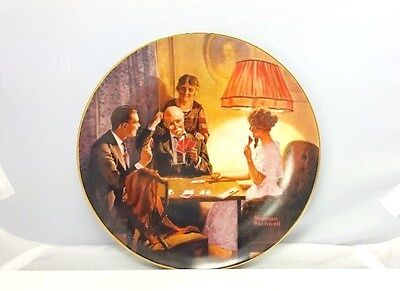 """Vintage Norman Rockwell """"This is the room that light made"""" limited edition plate"""