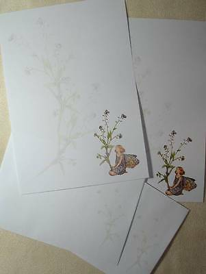 Forget me not Fairy Letter Writing Stationery Paper Set with matching envelopes