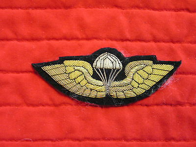 PARA WING, HEAVY EMBROIDERED,  FULL SIZE. UNKNOWN ORIGIN