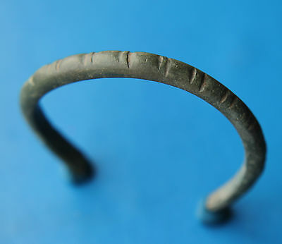 Celtic Period Bronze Decorated Bracelet 300-100 B.C. VF +++
