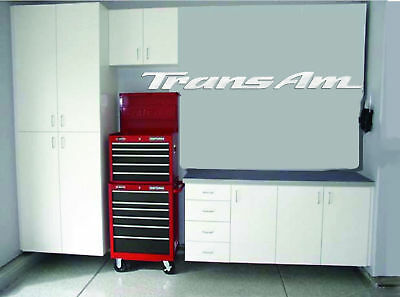 Trans Am Garage Sign 9 Feet Long  Brushed Silver