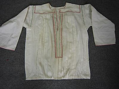 Antique Balkan Hand Woven and Embroidered Folk Costume Shirt Blouse Never used