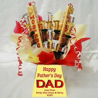 Fathers Day Toblerone Sweet Chocolate Bouquet Hamper