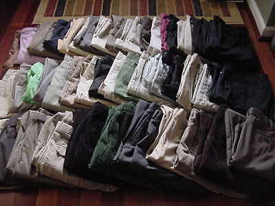 MIX CLOTHING CLOTHES LOT 49 WOMENS/MENS DRES/CASUAL BOTTOMS PANTS VARIOUS SIZES