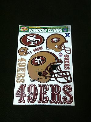 SF San Francisco 49ers decals clings - sheet of NFL Niners