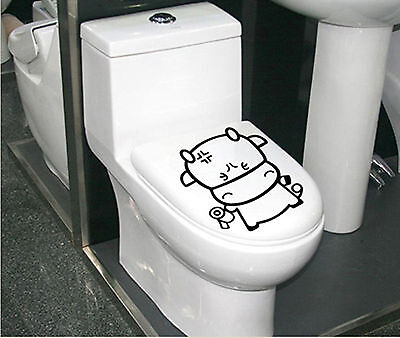 new Funny Animal Toilet Bathroom Removable Vinyl Paper Decal Decor Sticker