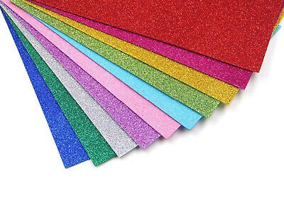 10 SHEETS of A4 Glitter Paper 250gsm Cardstock 13 Colors option