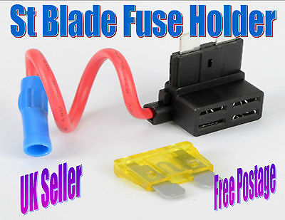 Standard ATS Blade Fuse, Add a Circuit, Piggy Back Holder *Free Fuse*