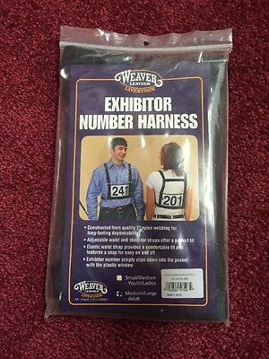 Weaver Leather Exhibitor Number Harness 4h M/L Medium Large New