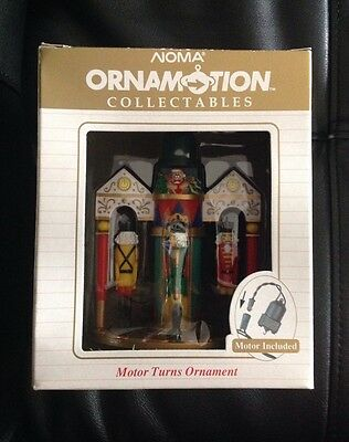 Noma ornamotion collectibles nutcracker motor turns ornament 1989