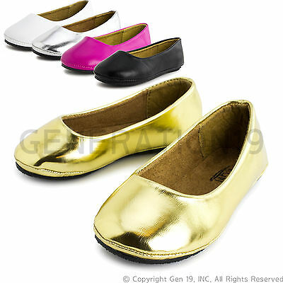 New Youth Girls Slip on Ballet Dress Flat Shoes Pala (Youth 10 11 12 13 1 2 3)