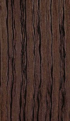 """10 yards Faux Crushed DESIGN DRAPERY FABRIC Width 110"""" COLOR CHOCOLATE BROWN"""