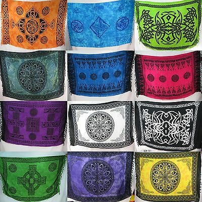 "10pc wholesale  45""x66""Celtic altar clothes sarong wall art tapestry beach dress"