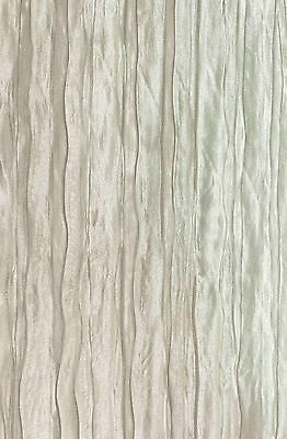 """10 yards Faux Silk CRUSHED DESIGN DRAPERY FABRIC Width 110"""" COLOR WHITE"""