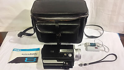 Yashica Super-50N 40mm Movie Camera F1.8 8-40mm Zoom Lens, Remote, Case, READ!