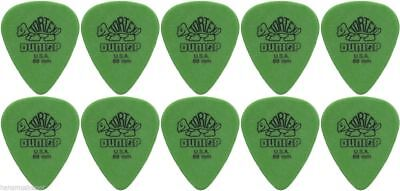 10 X Jim Dunlop Tortex Standard Green 0.88mm Guitar Picks / Plectrums NEW