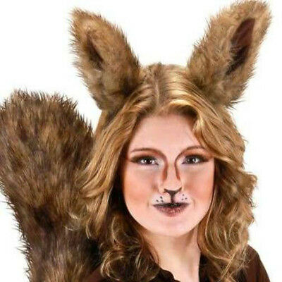 Deluxe Oversized Big Squirrel Ears Scrat Animal Costume Ears Brown Furry