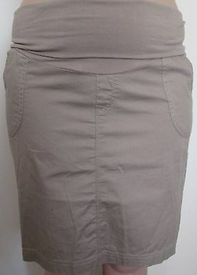 Beige Maternity Knee Length Skirt Light Weight Cotton Size 12 NEW