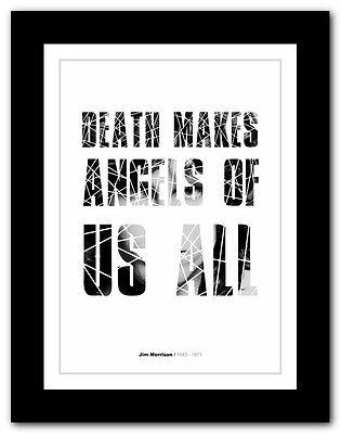 Jim Morrison ❤ typography quote poster art limited edition print The Doors #15