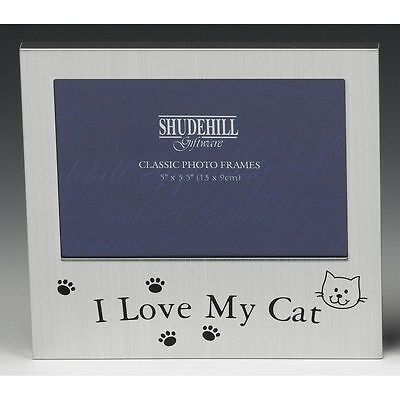 "5"" x 3"" I love My Cat Photo Frame, Pet Lover Gift, Occasion Present 73498"