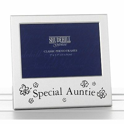 Auntie Gift Photo Frame Silver Satin Christmas Birthday Mothers Day Present