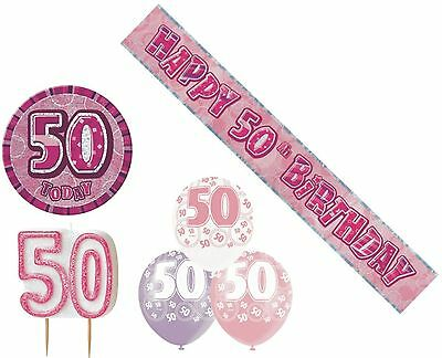 50th birthday decoration pack balloons banner candle badge for 50th birthday decoration packs