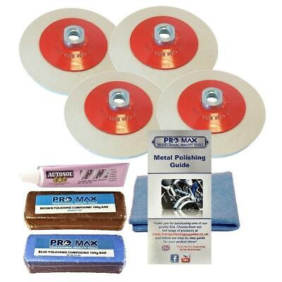 BENCH GRINDER KIT23 FINAL STAGE POLISH OF COPPER BRASS ALUMINIUM HA16 HB35
