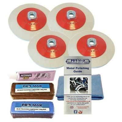 Pro-Max Angle Grinder Aluminium Metal Polishing Kit 8pc