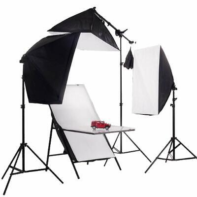 Continuous Lighting Kit 150W Studio Softbox Product Photography Shooting Table
