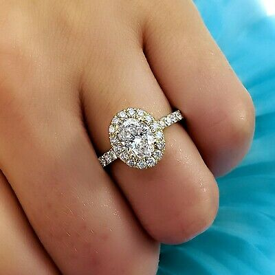 JARED OVAL DIAMOND Engagement Ring GIS certified 1.71tcw - $2,700.00 ...