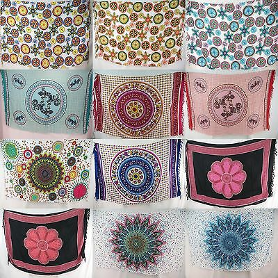 10pcs wholesale pareo infinity universe peacock feather mandala sarong beach