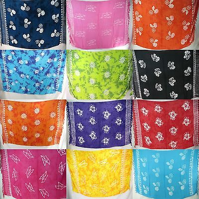10pcs wholesale batik sarong resortwear Bali rayon hippie clothing pareo