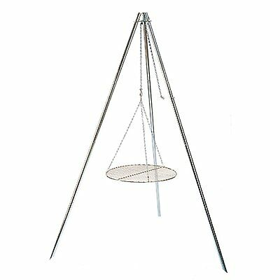 Coleman Tripod Grill and Lantern Hanger - Grilling Over A Camp Fire Camping, New