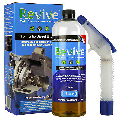 Revive Turbo Cleaner Power Restorer Fluid 750Ml Starter Kit Turbocharger Engine