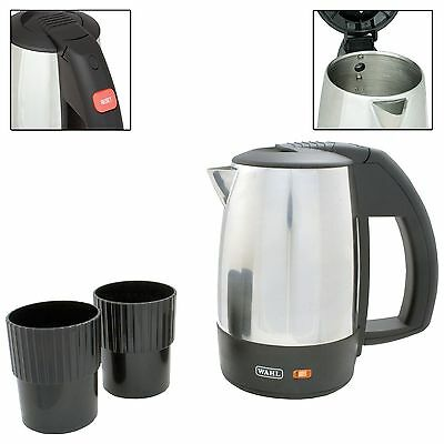 Wahl ZX643 0.5Litre Stainless Steel Travel Kettle + 2 Travel Cups *Dual Voltage