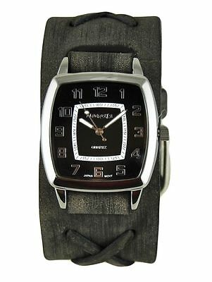 Cuff Watch45 32 Triangle Nemesis Classic Leather Black Women's OP0k8wnX