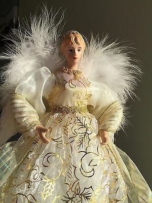 GOLD, Xmas Angel , Christmas Tree Topper,  FEATHER WINGS, Angel of Glory 28cm