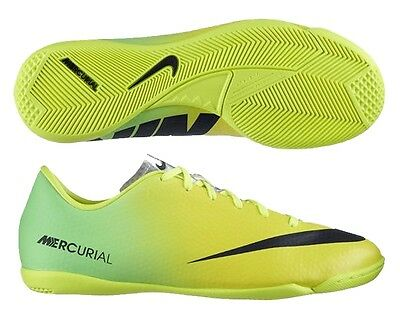 NIKE MERCURIAL VICTORY IV IC INDOOR SOCCER SHOES FOOTBALL Vibrant Yellow  Black aedf56069d07f
