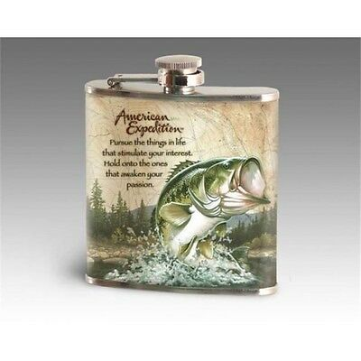 Fishing Themed Stainless steel hip flask perfect gift for the fisherman