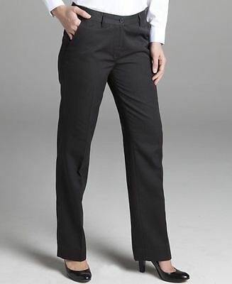 Ladies Corporate Pants Size 8 10 12 14 16 18 20 22  Charcoal Grey Dress Work New