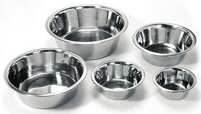 Stainless Steel Standard Cage Cup Dish Bird Cat Dog Puppy Food Water Bowl Pet