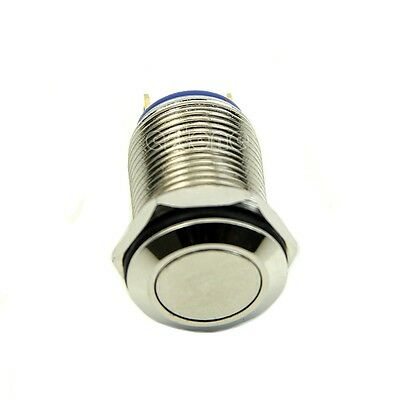 Quality Stainless 12mm OFF/ON 1NO Momentary Pushbutton Switch Waterproof
