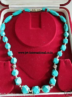 Tibetan Turquoise Beautiful Necklace Fashion Jewelry Gemstone Beads Authentic A+