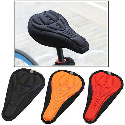 Cycling Bike Bicycle MTB Silicone Gel Cushion Soft Pad Saddle Seat Cover New