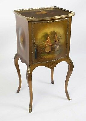 Antique French Vernis Martin Music Cabinet c.1900
