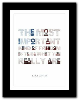 Jim Morrison ❤ typography quote poster art limited edition print The Doors #21