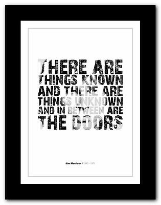 Jim Morrison ❤ typography quote poster art limited edition print The Doors #49