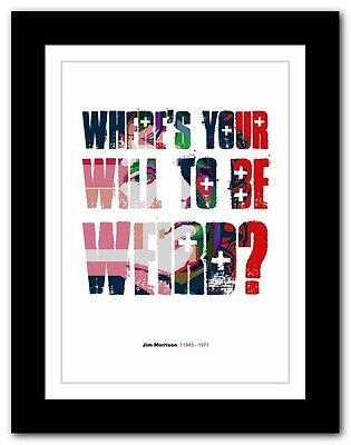Jim Morrison ❤ typography quote poster art limited edition print The Doors #56
